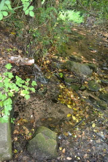 The overflow pipe runs into a delightful brook