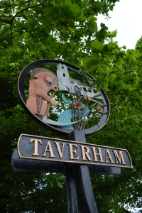 St Walstan on Taverham village sign